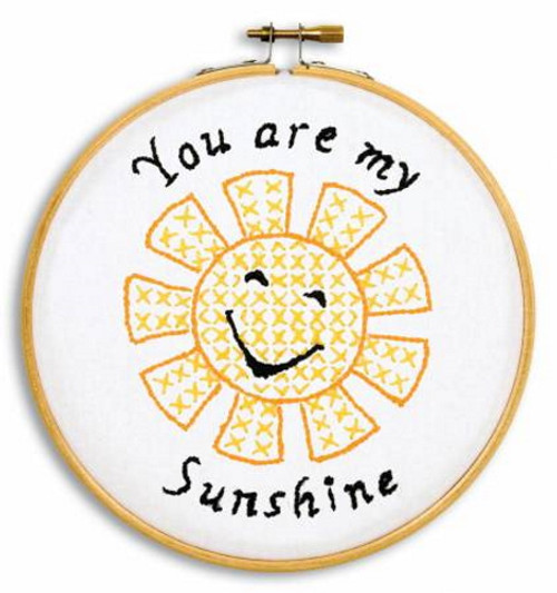 Sunshine Ready, Set, Sew! 6in Embroidery Hoop Kit - 4096-925