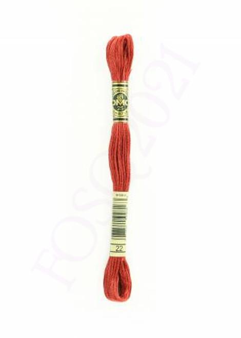 Six Strand Embroidery Floss - Alizarin - 117UA-22