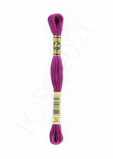 Six Strand Embroidery Floss - Dark Fuchsia - 117UA-34