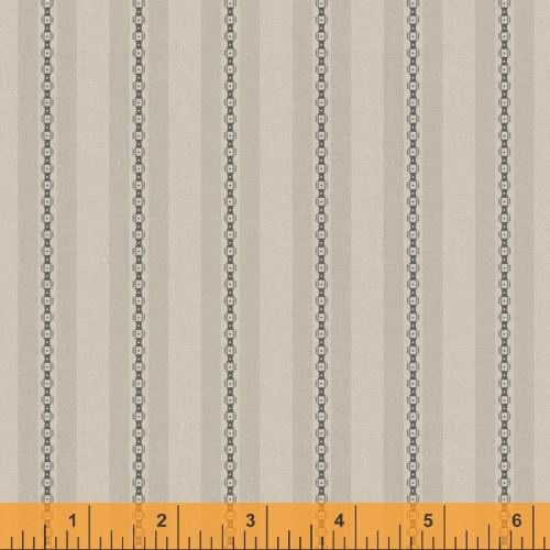 Taupe Chain and Stripe Design Fabric - 52076-8