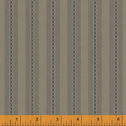 Khaki Chain and Stripe Design Fabric - 52076-10