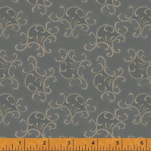 Slate Filigree Design Fabric - 52077-6