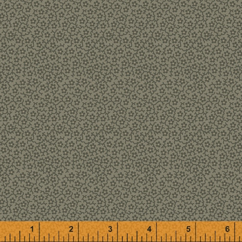 Olive Green Le Petits Floral Design Fabric - 52079-2