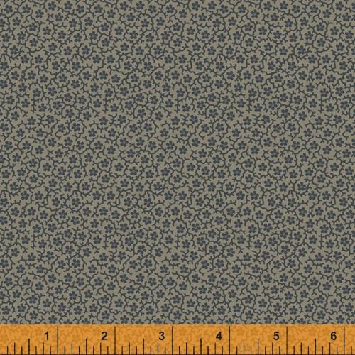 Taupe Le Petits Floral Design Fabric - 52079-10