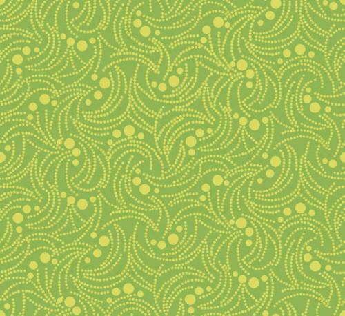 Swirlygig Dotty -Lime Fabric - RIV-SG-2253-13