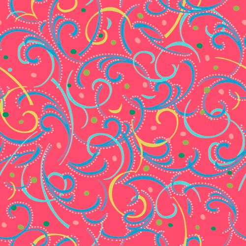 Swirlygig Swirls - Raspberry Fabric - RIV-SG-2251-36