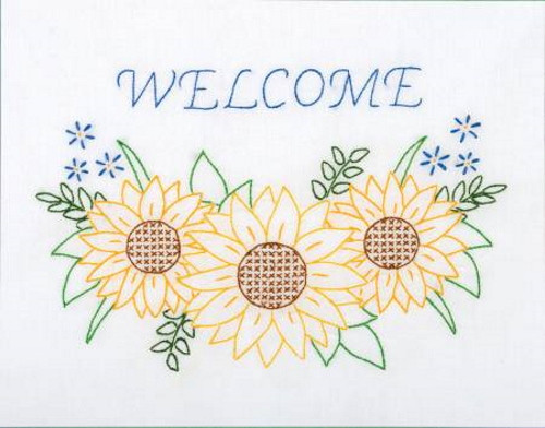 Welcome Sunflowers 11in x 14in Sampler - 181-721