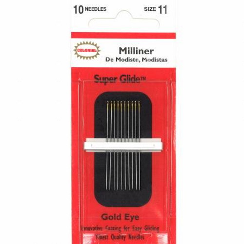 Colonial Super Glide Milliners Needles Size 11 - 10ct - #CBSG150-11