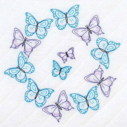Brilliant Butterflies 18 in Quilt Blocks - 732-859