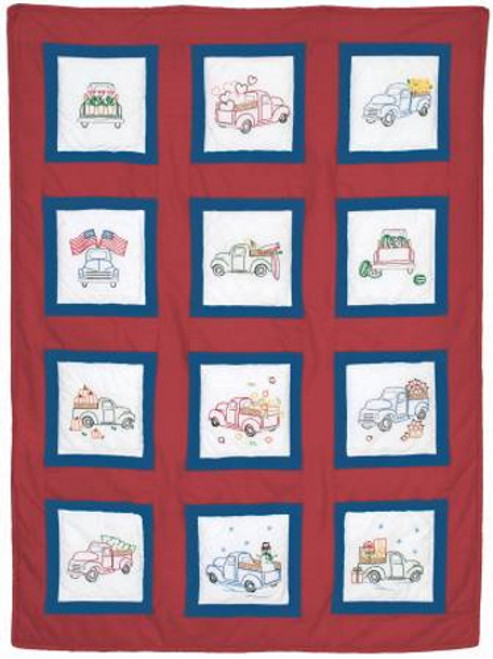 Trucks for All Seasons 9 Inch Quilt Block Set - Package of 12 - 737-882