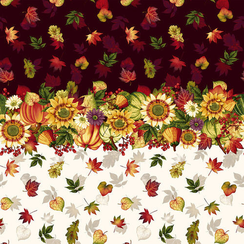 Harvest Border Stripe Fabric - 2666-33