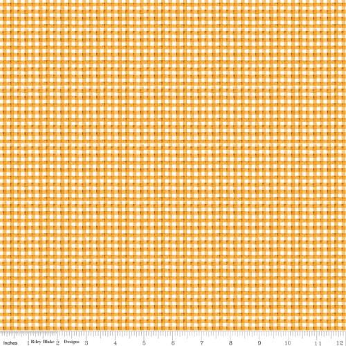 Yellow Gingham Fabric - C9666 Yellow
