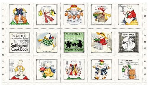 Christmas Cook's Fabric Panel - P9662 Panel