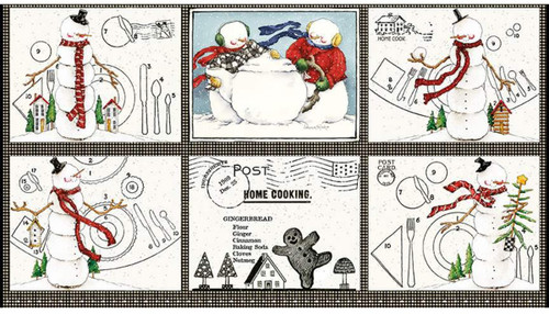 Snow Sweet Placemat Fabric Panel - C9663 Panel