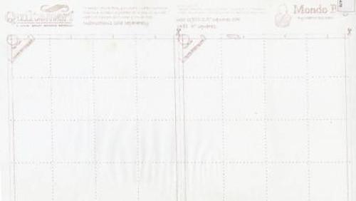 Mondo Bag Printed Interfacing - BY THE PANEL (2 panels/bag) - QS65039D