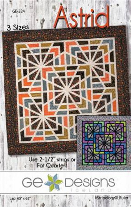 """Astrid Pattern - Uses Fat Quarters or 2 1/2"""" Strips - GE-224"""