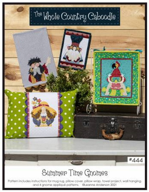 Summer Time Gnomes Pattern - 4 Gnome Applique Patterns - WCC444