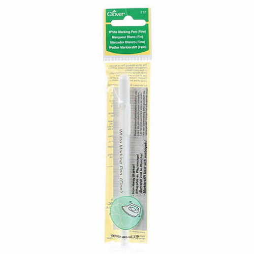 Water Soluble or Iron Off White Marking Pen - #517