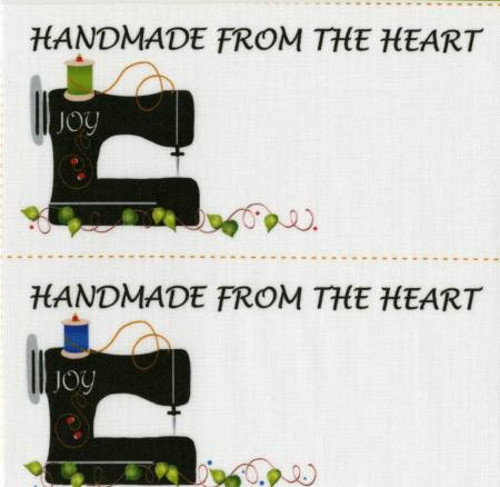 Handmade from the Heart Quilt Labels - 4 per pack - JHQL2SM