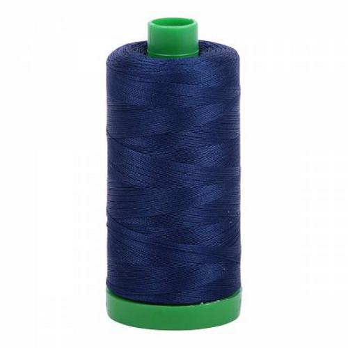 Dark Navy Cotton Mako Thread - 40wt - 1092 yards (1000m) - MK40-2784