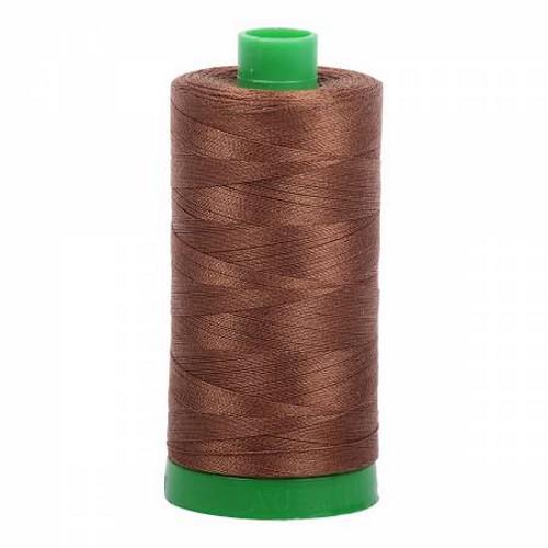 Dark Antique Gold Cotton Mako Thread - 40wt - 1092 yards (1000m) - MK40-2372