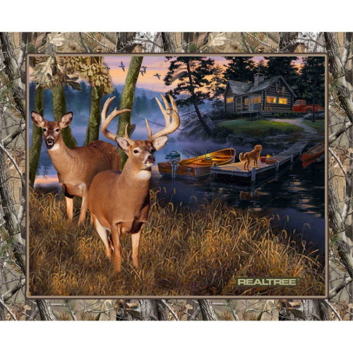 Deer in a Lakeside Sunset Panel - 10164