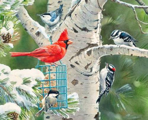 Birds and the Tree Digital Panel - WW-3197-0C