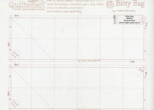 Bitty Bag Printed Interfacing - BY THE PANEL (1 panel/bag) - QS65054D