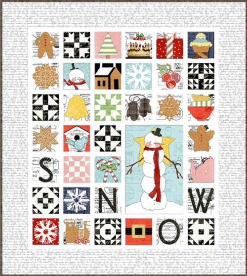 Sweet Snow Along Quilt Pattern - P149-SWEETSNOWALONG