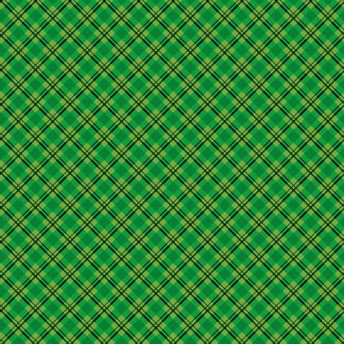 GREEN AND BLACK PLAID FABRIC