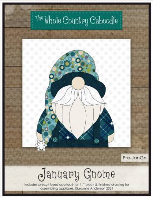 January Gnome Precut Fused Applique Pack - WCCPRE-JANGN