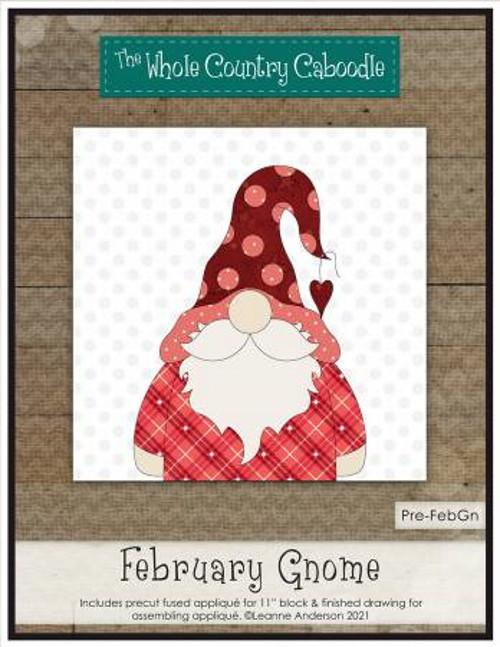 February Gnome Precut Fused Applique Pack - WCCPRE-FEBGN