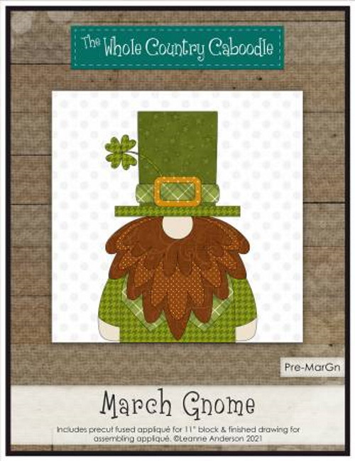 March Gnome Precut Fused Applique Pack - WCCPRE-MARGN