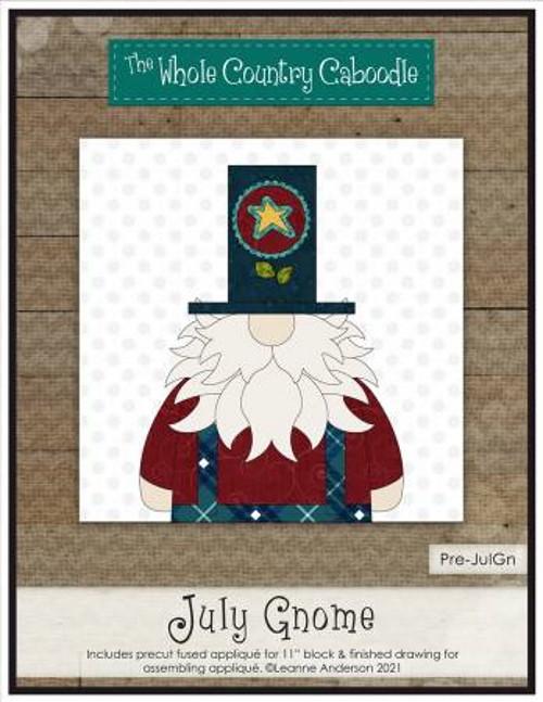 July Gnome Precut Fused Applique Pack - WCCPRE-JULGN