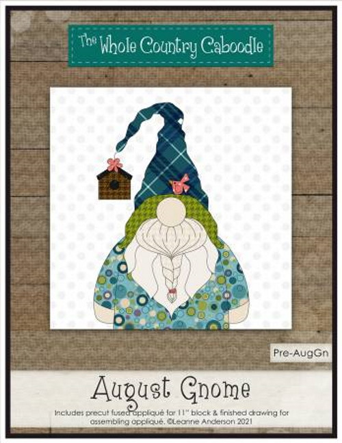 August Gnome Precut Fused Applique Pack -  WCCPRE-AUGGN - The Whole Country Caboodle