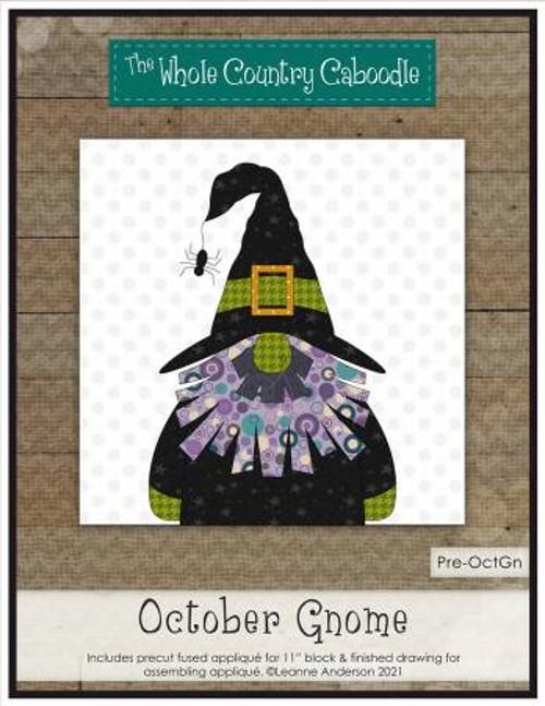 October Gnome Precut Fused Applique Pack - WCCPRE-OCTGN