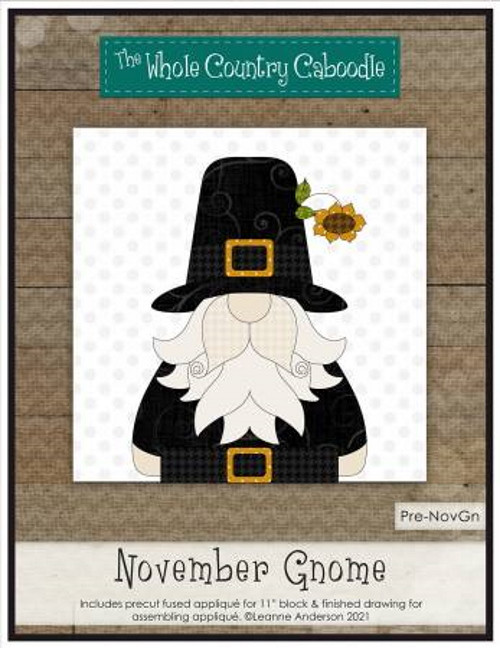 November Gnome Precut Fused Applique Pack - WCCPRE-NOVGN