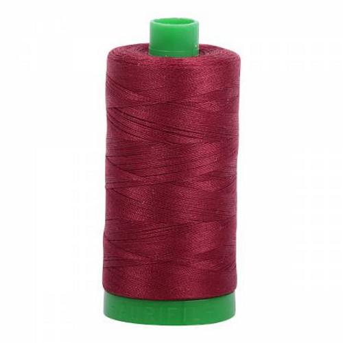 Dark Carmine Red Cotton Mako Thread - 40wt - 1092 yards (1000m) - MK40-2460