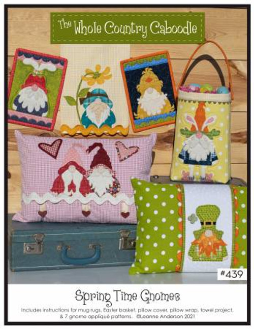 Spring Time Gnomes Pattern - 7 Gnome Patterns - WCC439