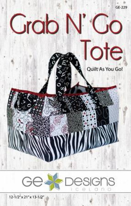 Grab n' Go Tote Pattern - Quilt as You Go - GE-229
