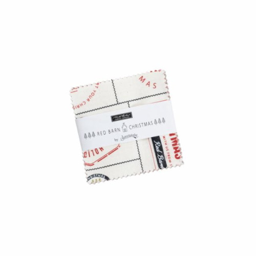 "Red Barn Christmas Mini Charm Pack - 42 2 1/2"" Squares - 55530MC"