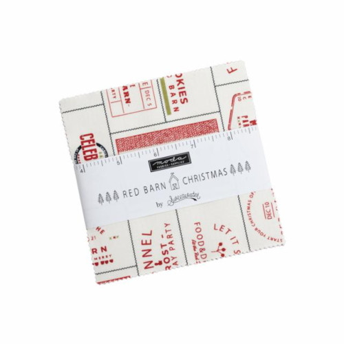 """Red Barn Christmas Charm Pack - 42 5"""" Squares - 55530PP"""