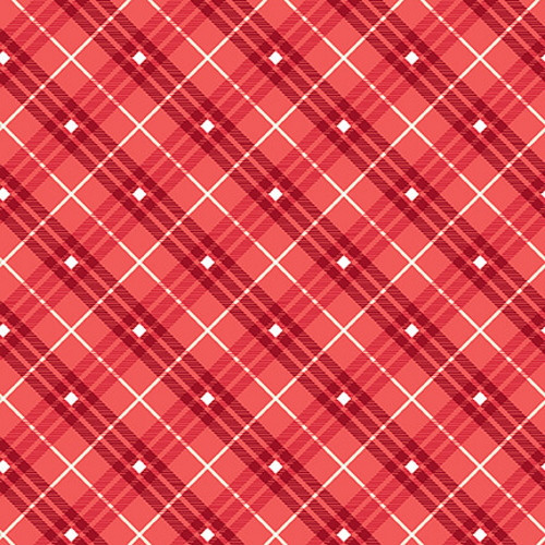 Red Plaid Fabric - 9611-85 Red