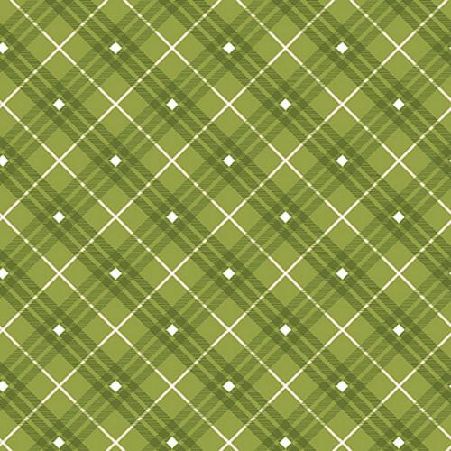 Green Plaid Fabric - 9611-66 Green