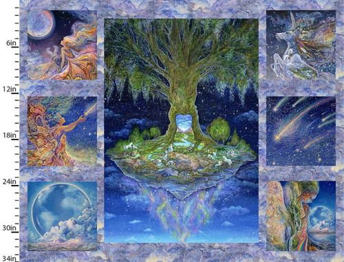 Celestial Journey Tree Panel - 17130-MLT-CTN-D