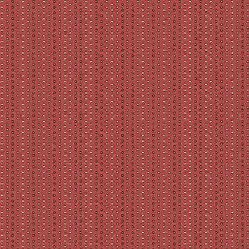 SMALL CREAM DESIGN ON RUSTY RED