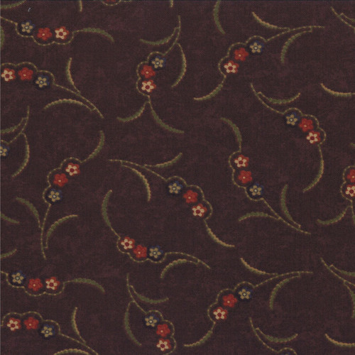 FLORAL SCALLOP ON BROWN PATTERN