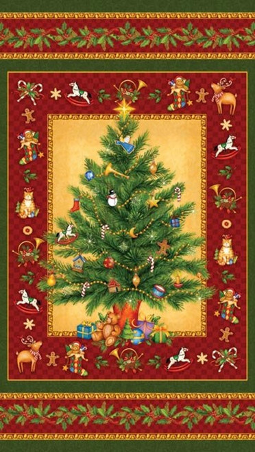 OLD TIME CHRISTMAS TREE PANEL - OLD TIME CHRISTMAS TREE PANEL - 24