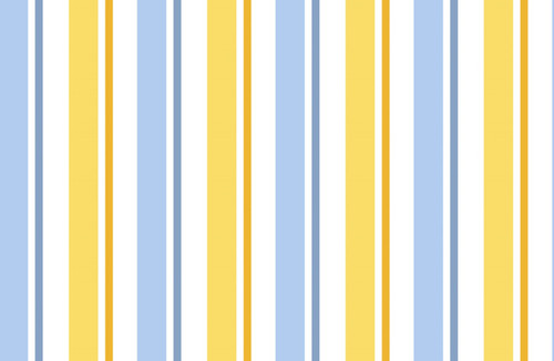 1 IN A MINION - BLUE, WHITE AND YELLOW STRIPE BLENDER FABRIC