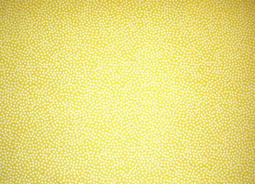 WHITE POLKA DOTS ON YELLOW FABRIC
